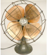 VINTAGE-art-deco-EMERSON-8-034-BRASS-BLADE-OSCILLATING-FAN-good